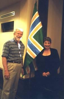 John Hood with former Portland mayor Vera Katz.