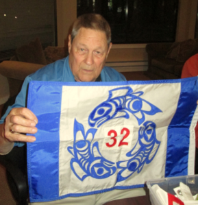 Larry Snyder designed the flag for  U.S. Power Squadron District 32.
