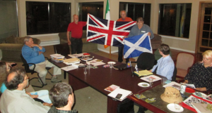 In the evening's most popular topic, Patrick Genna explains the history of the   Union Flag and explores the vexillographic implications of Scottish independence.