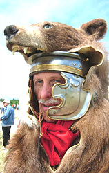 Commander Marsallas with a Bear (Ursus) pelt over his Gallic-C helmet.
