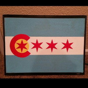 Colorado/Chicago flag.  By @hannah14620 (from Instagram).