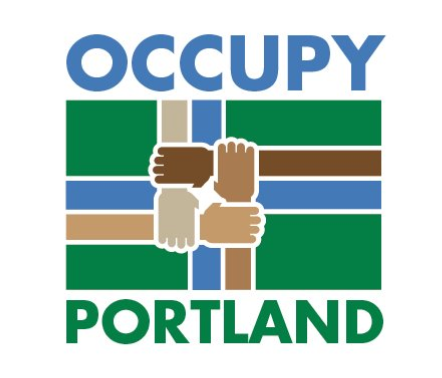 An Occupy Portland logo based on the Portland flag.