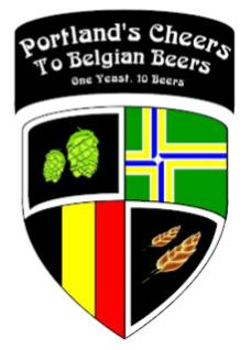Logo of the Portland Belgian Beer Challenge, Rock Bottom Brewery, April 10, 2012.