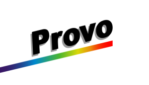 Former flag of Provo (1985-2015).  Designed by Stephen Hales Creative Design ad agency (halescreative.com).
