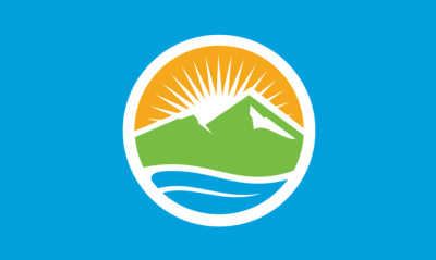 Flag of Provo as of January 6, 2015. Designed by Stephen Hales.