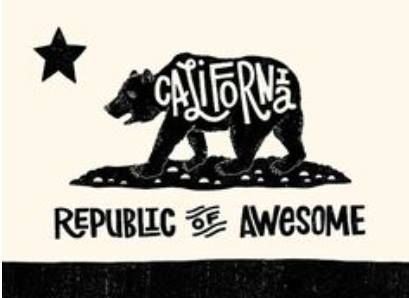 California Republic of Awesome.  Posted by  Lorri Aiello to Friends of the California Bear Flag Facebook group.