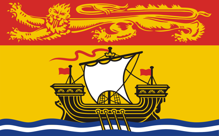 The flag of the Canadian Maritime province of New Brunswick.  Adopted 24 February 1965.