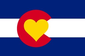RagePaints @ Etsy markets this Colorado Heart Flag sticker.