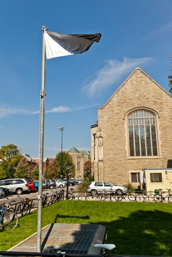 Heavy Ambivalent Flag flying at the University of Toronto in 2010.