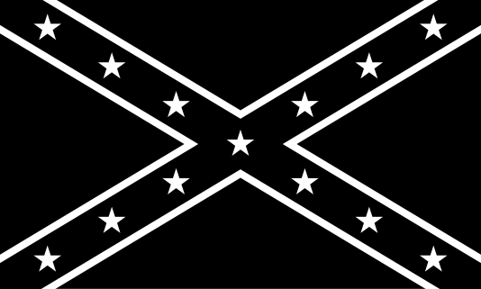 Black and white rebel flag.