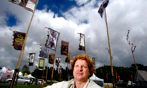Angus Watt at Taranaki WOMAD in 2010.  Photo by Cameron Burnell, Taranaki Daily News.