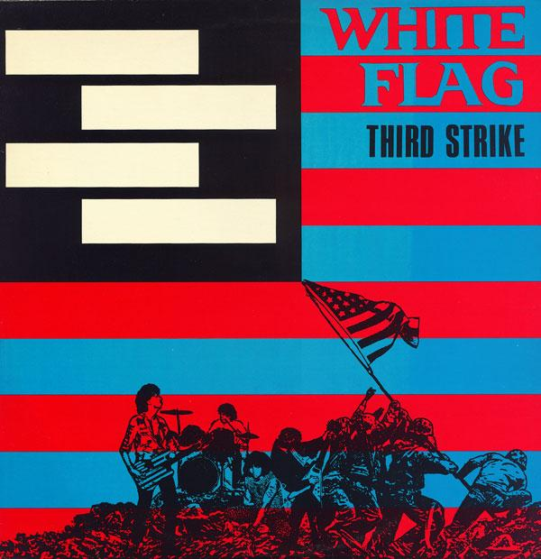 The cover art for their Third Strike album is a nice mash-up of the US flag, the famous photo of the flag raising on Iwo Jima, and their four-bar logo (the inverse of their anti-namesake's, Black Flag).