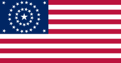 One of the designs used for the 38-star US flag.