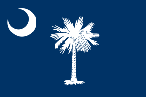 Flag of South Carolina. The tree is a Carolina Palmetto (Sabal palmetto). Source: Wikipedia.