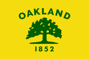 City flag of Oakland, California, designed by George Laakso of San Leandro in 1952. Source: FOTW.
