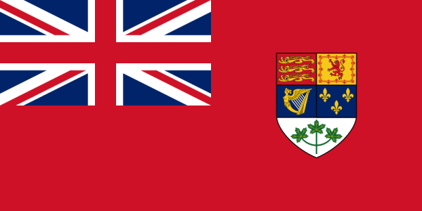 Canadian red ensign, 1921 - 1957.