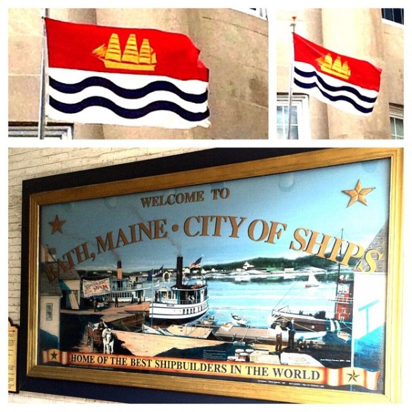 Bath, #maine has a GREAT flag. #bathmaine #newengland #flags #flegs #vexillology.  Photo by @hungryeddy.