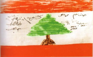 The Lebanese national flag, hand-drawn and signed by deputies of the Lebanese parliament. Source: www.clevelandpeople.com/groups/lebanese/lebanese.htm