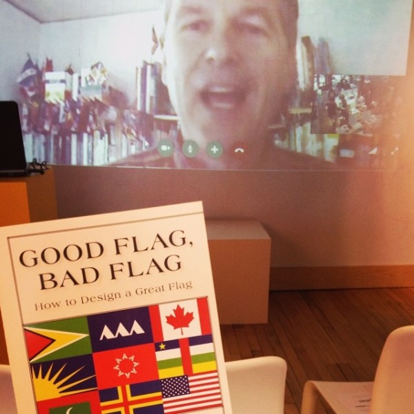 """""""Learning about flags on flag day from Ted Kaye at the Sioux Falls Design Center. #happyflagday #vexillology #flagday #dtsf @sfdc108""""  Photo by Molly O'Connor (@mollymoconnor)"""