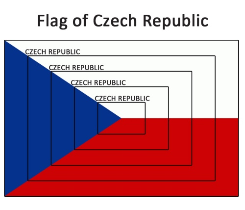 The Czech flag contains infinitely many smaller copies of itself.