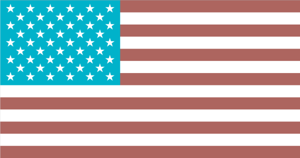 Flag of the United States of America, as of 1 April 2015.