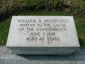 Mumford monument in Greenwood Cemetery, New Orleans.