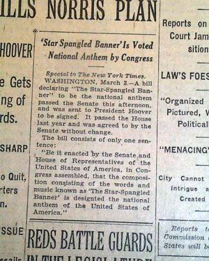 Minor news buried within the New York Times of 3/5/1931.
