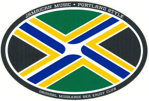 Don Olsen's design for an OMSEC flag combines those of Jamaica and Portland.