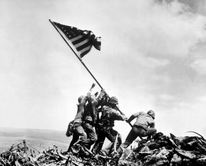 The most famous image of the 48-star flag.