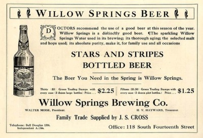 Advertisement for Stars and Stripes beer, which the Supreme Court agreed violated