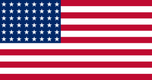 The US flag for most of the 20th century (1912-1959).