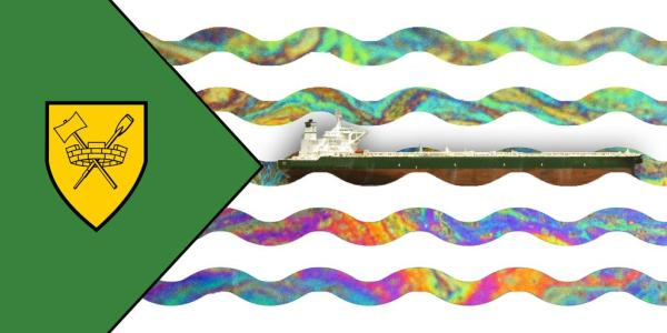 Vancouver oil spill flag.  From @MattVanDeventer on Twitter.