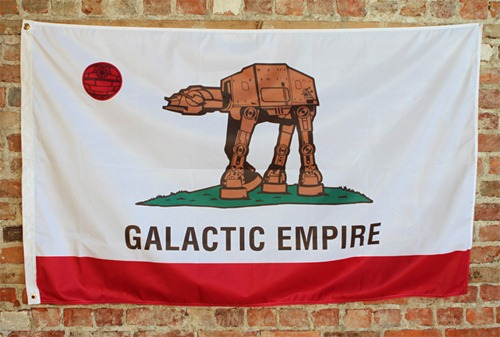 Galactic Empire - Flag Edition.  By LA-based visual artist Sket One on 1xrun.com.  He or she gets mucho points for actually making and selling an actual 3 by 5 foot flag.