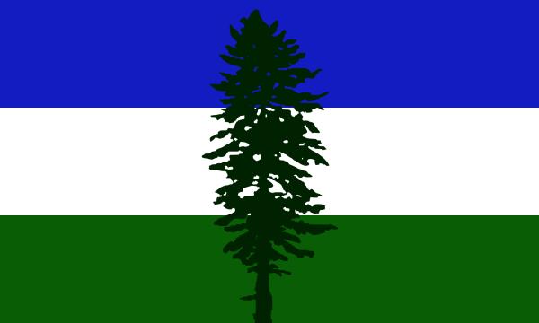 The Cascadian Flag, Alexander Baretich, designer.
