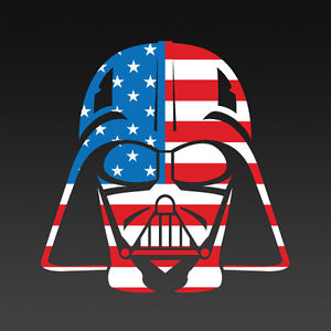 Darth Vader American Flag Head, t-shirt design sold by junescustomgraphics on eBay.