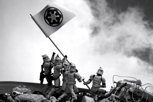 Troopers Raising the Flag on Iwo Jima.  By David Eger on flickr.