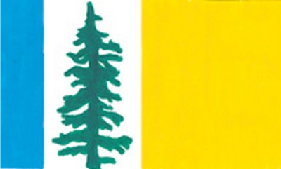 Proposed flag for Oregon by Karen L. Azinger, finalist in The Oregonian's Oregon Flag Contest of 2008.