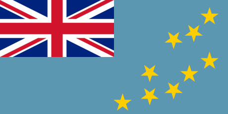 The flag of Tuvalu