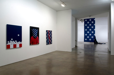 Hans Haacke - installation view of State of the Union, Paula Cooper Gallery, NY, 2005