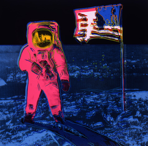 Andy Warhol - Moonwalk (1987). Pink version.