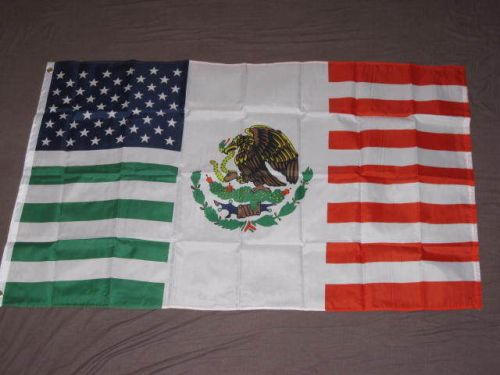 USA Mexico Friendship flag, design copyright Flags Importer Corporation.