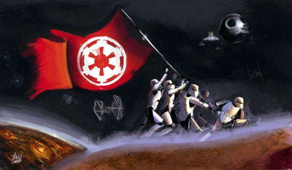 Star Wars wallpaper: raise the imperial flag.  From Pikof.com.