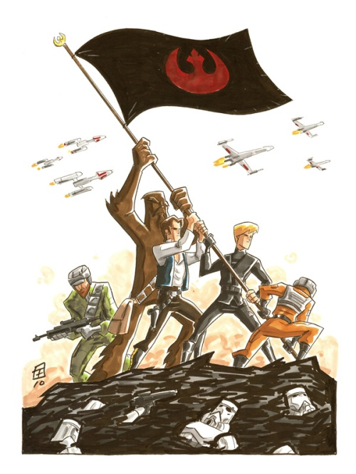 Star Wars Iwo Jima, by Otis Frampton on deviantart.com.