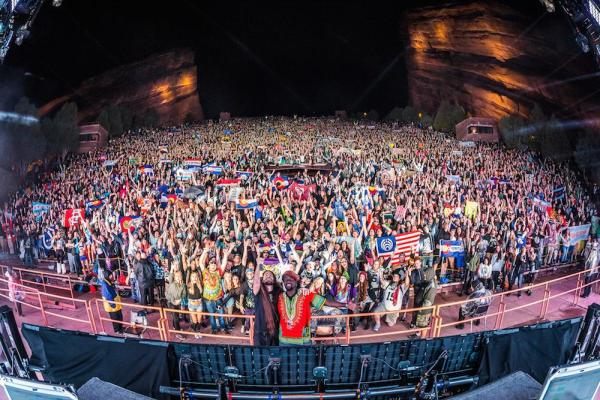 The crowd at Red Rocks, Colorado, May 2015.  From @Bassnectar Twitter feed.