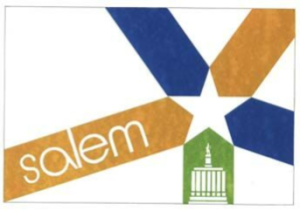 The Salem city flag, designed in 1972 by Arvid Orbeck...