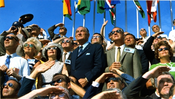 Former-U.S.-President-Lyndon-B.-Johnson-views-the-launch-of-Apollo-11-from