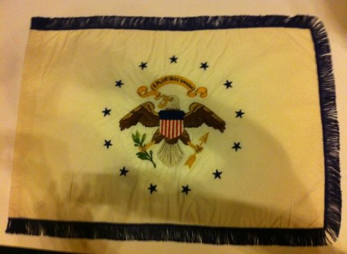 LBJ's Vice Presidential standard, from the ZFC.  The design was used from 1948 to 1975.  Photo by Scott Mainwaring.