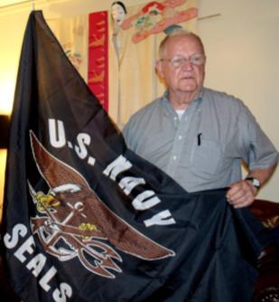 David Ferriday fooled everyone when unfurling a black military flag.