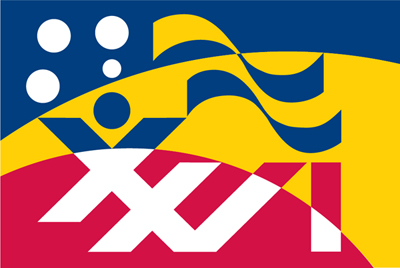 The flag of ICV26, the Sydney Flag Conference.