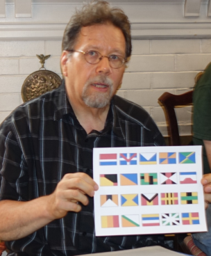 David Koski shows some results from his flag image generator.